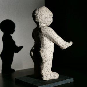 Sculpture de grès blanc